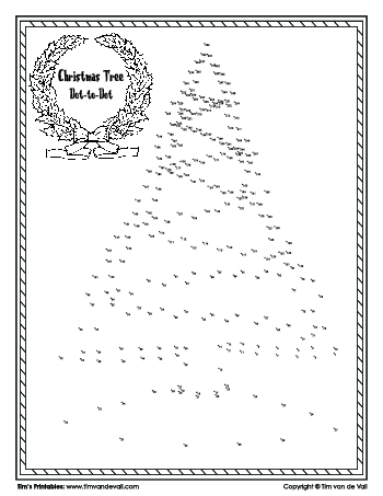 christmas tree dot-to-dot