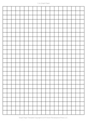 1 Centimeter Graph Paper Template, Letter PDF