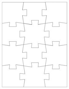 Jigsaw Puzzle Template - 12 Pieces