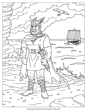Leif Ericson Coloring Page