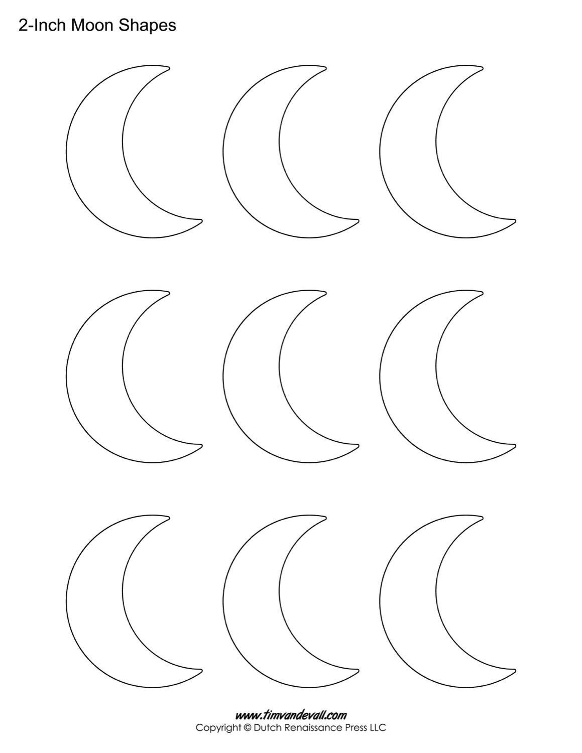Moon Shape Tracing Worksheet