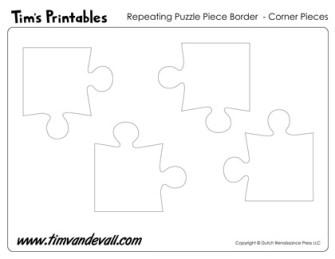 Printable Puzzle Piece Corners