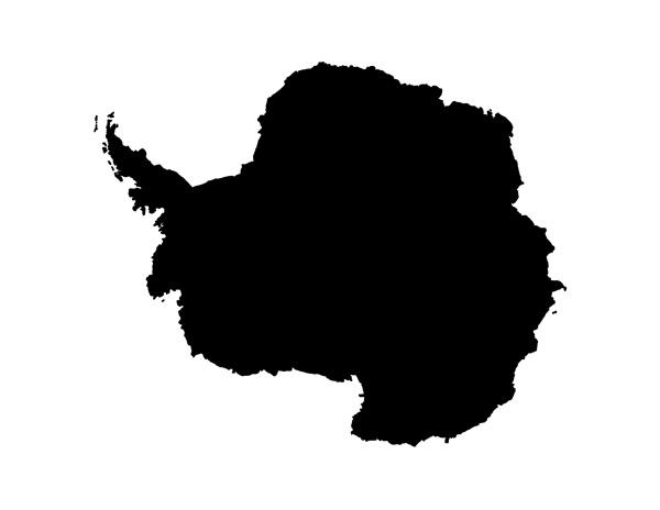 blank antarctica map
