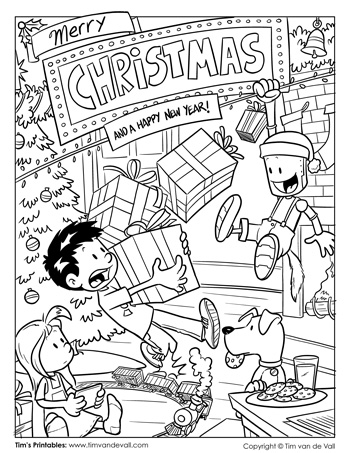 Christmas Eve Coloring Page
