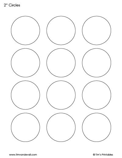 printable circle sheet