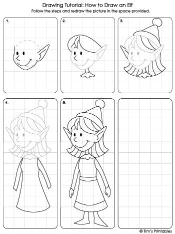 elf girl drawing tutorial