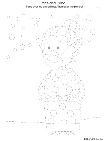 mrs claus tracing sheet
