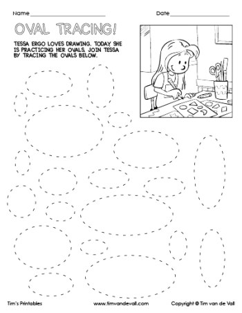 Oval Tracing Worksheet