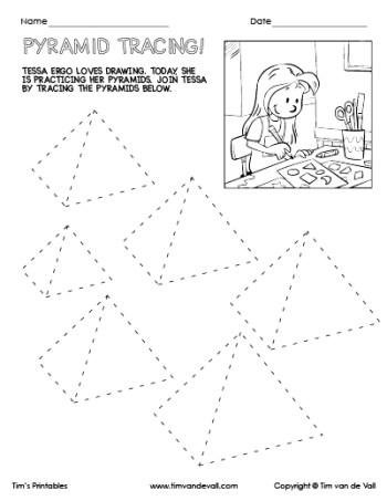 Pyramid Tracing Worksheet