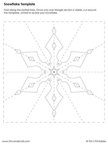 Snowflake Template #3