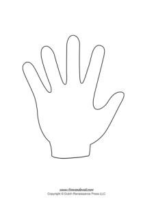 Handprint Template