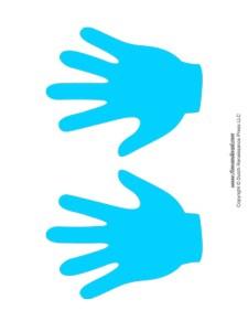 Handprint Templates - Blue