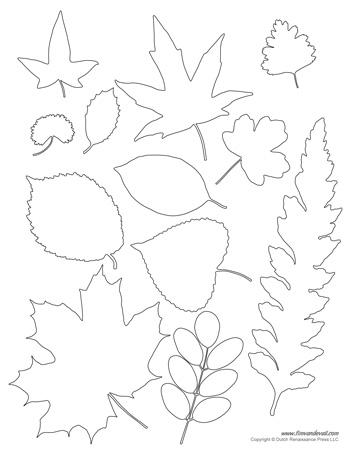 printable leaf templates