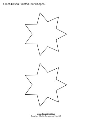 seven pointed stars