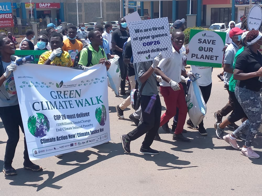 ENVIRONMENTAL ACTIVISTS CALL FOR SUPPORT IN CLIMATE CHANGE FIGHT