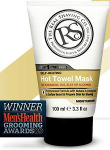 RealShaving Co. Hot Towel Mask Bottle from realshaving.com
