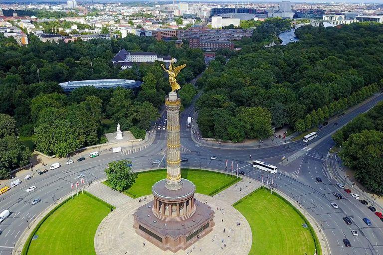 Oost-berlijn Siegessäule Berlin Tiergarten