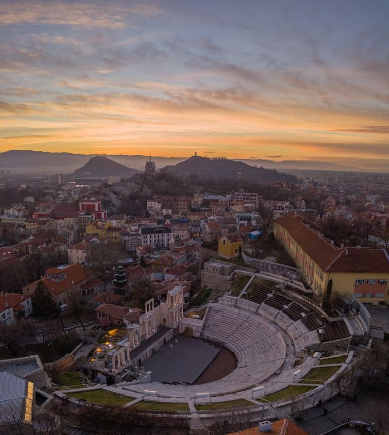 plovdiv view stad romeins amfitheater doen