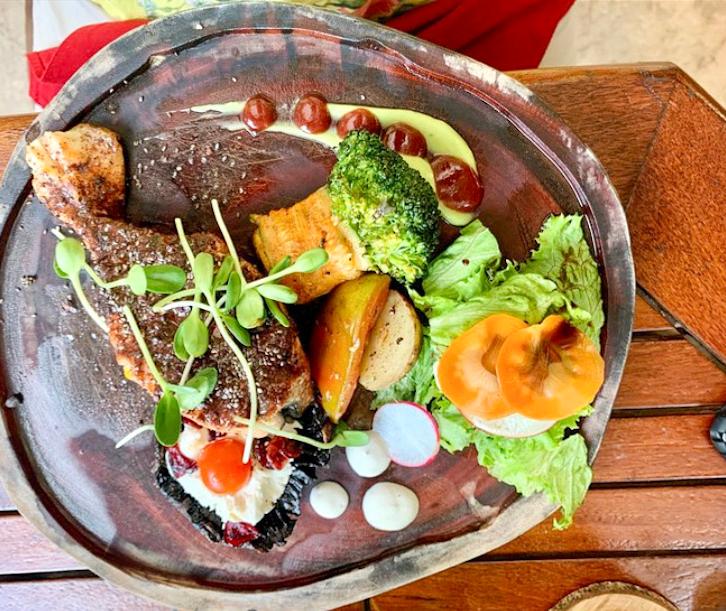 eten in bacalar Nixtamal diner lunch