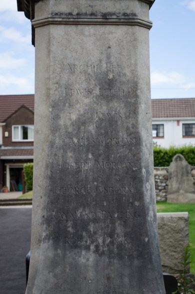 Pontrhydyrun War Memorial Rear Face