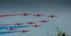 Red Arrows Fly Over Newport Celtic Manor