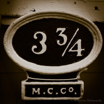 3 3/4 | Three and Three Quarters | Lock Distance Marker, 3 3/4 Miles