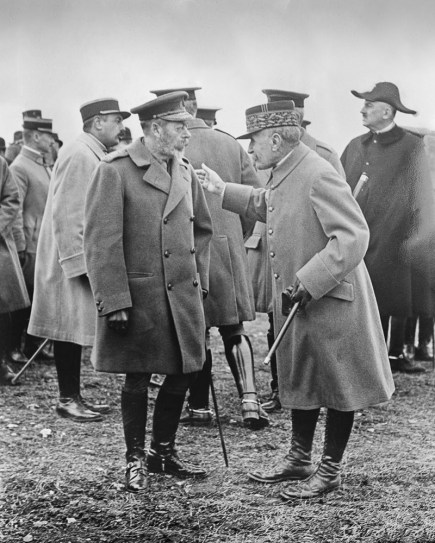 King George V and Maréchal Ferdinand Foch at Notre Dame de Lorette, 12 May 1922