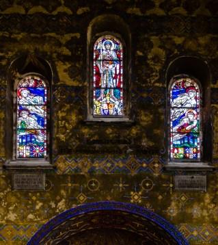 Notre Dame de Lorette Stain Glass Windows by Henry Payne