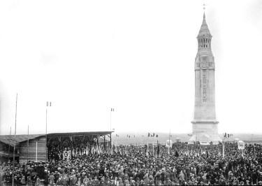 Inauguration of the lantern tower, Notre Dame de Lorette, 2 August 1922.