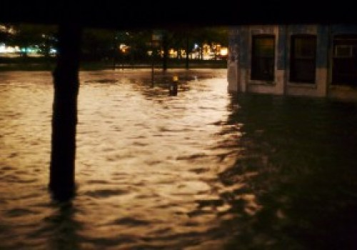 Bank and West Streets, NYC Under Five Feet of Water - October 29, 2012 9pm ET
