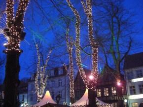 Illuminierte Bäume am Schlachtermarkt
