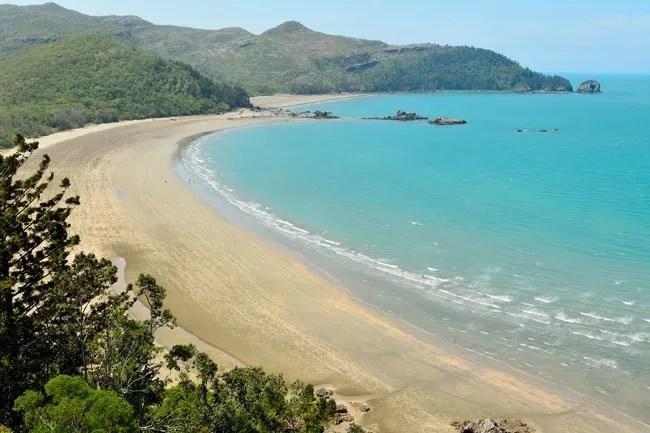 Cape Hillsborough Beach where the rain forest meets the sea.