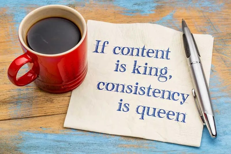 Coffee with note: If content is king, consistency is queen to get your blog noticed