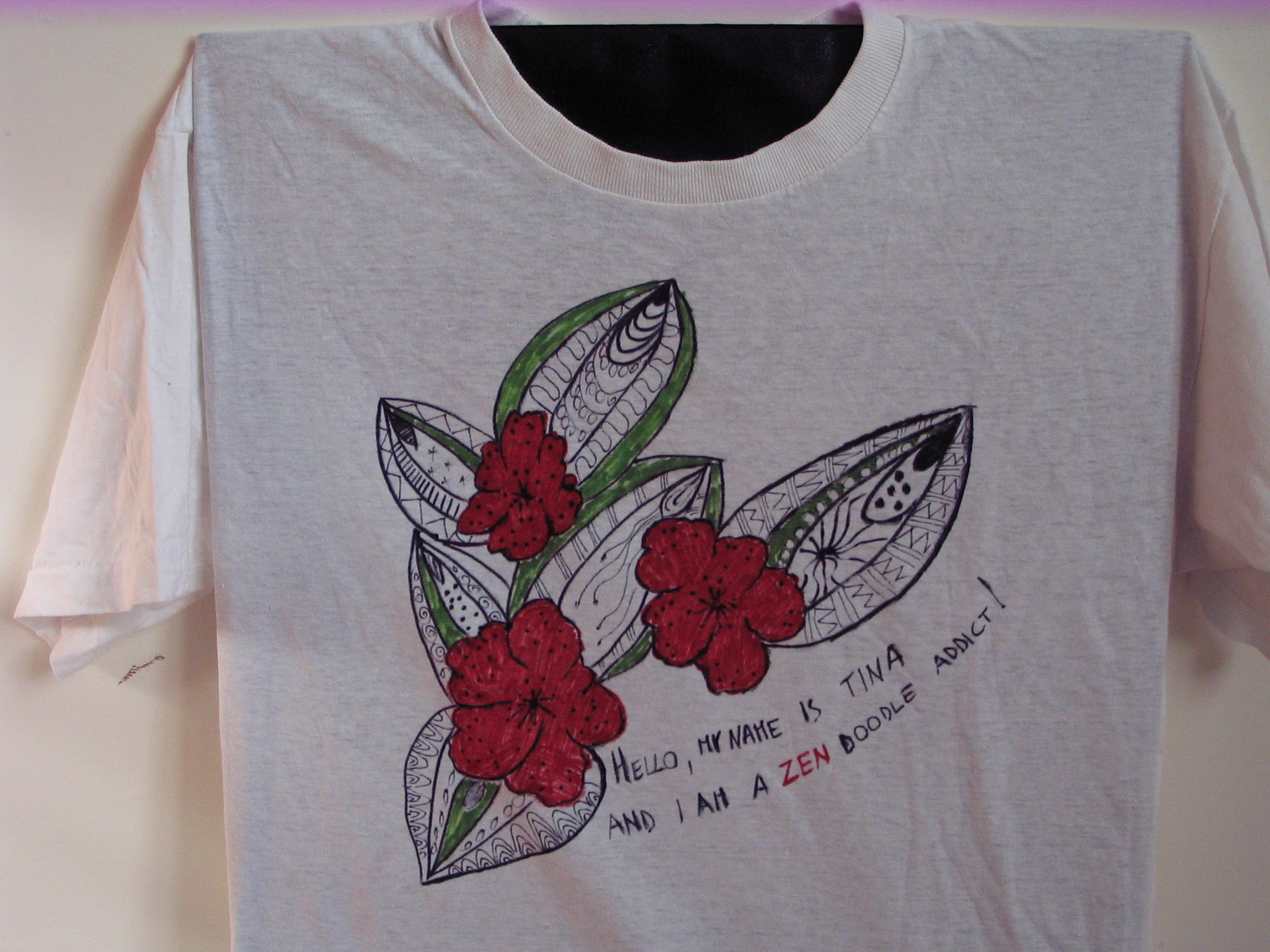 zen doodle addict t-shirt 003