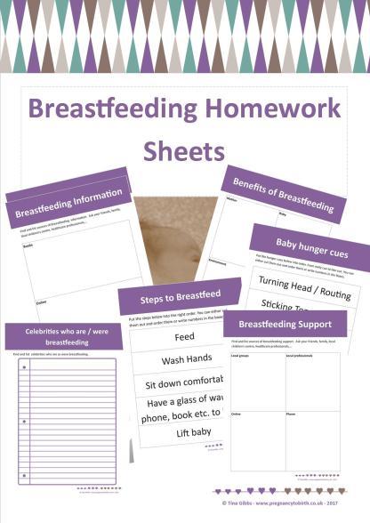 Breastfeeding Homework Sheets