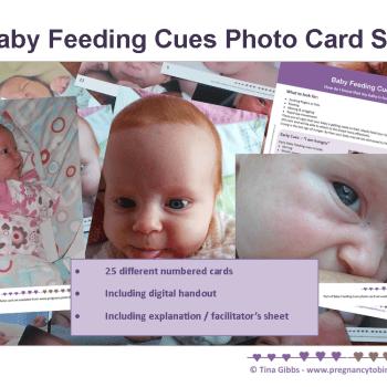 Baby Feeding Cues photo card set