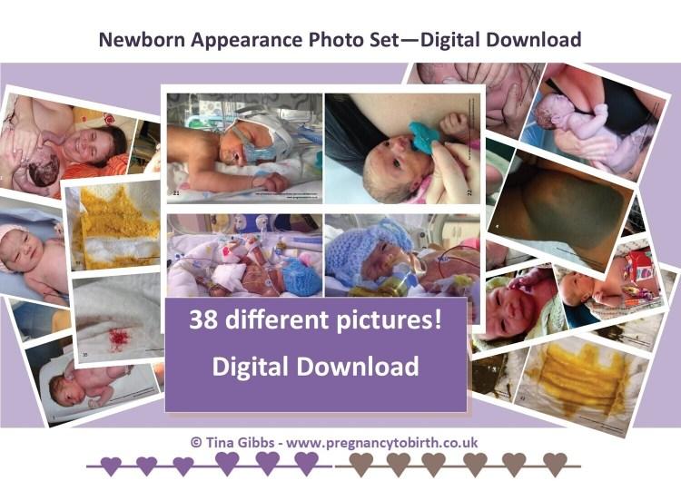 printable newborn appearance photos