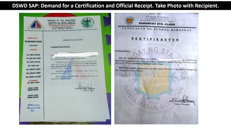25 - Demand for Certification and Official Receipt C