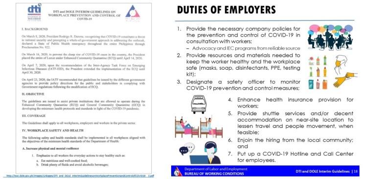 Duties of employers