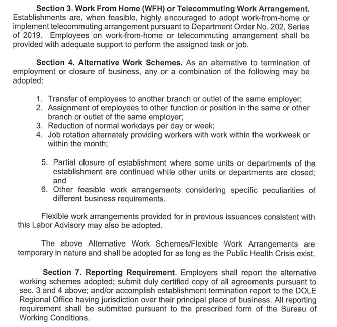 Labor Advisory No. 17