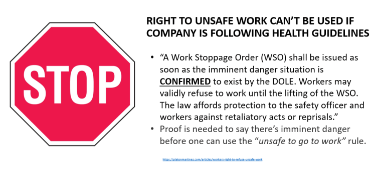 Right to unsafe work