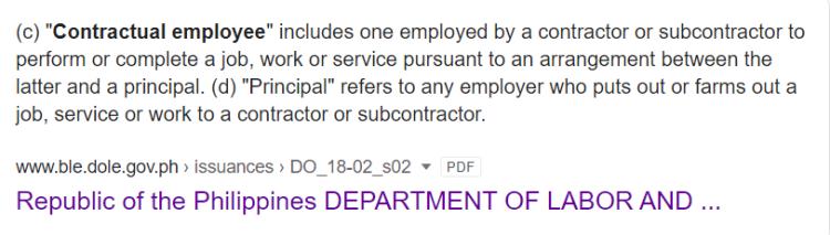 contractual employee