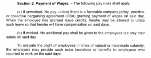 Labor Advisory No. 1 wages
