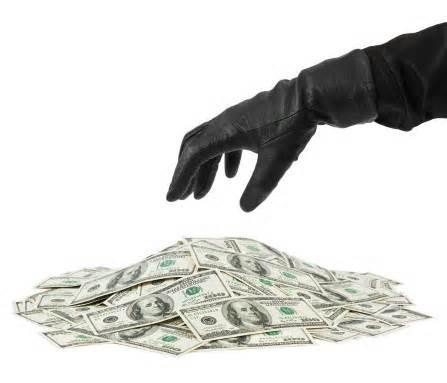 stole money