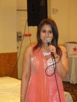 Tina Kundalia warming up before the show