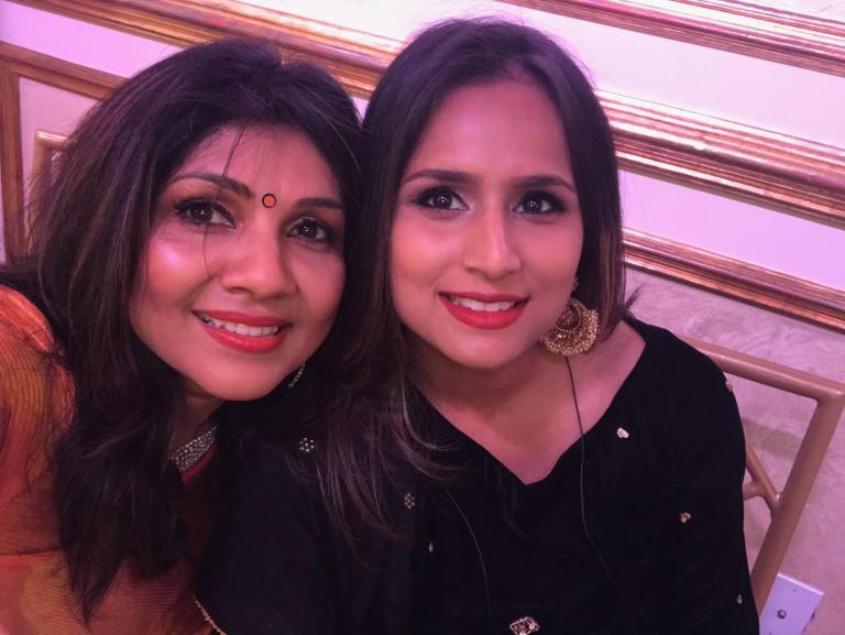 Tina with Akila at her niece wedding