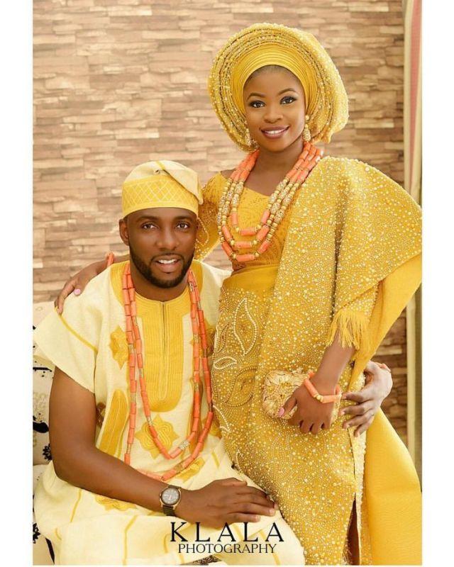 Yoruba traditional wedding dresses