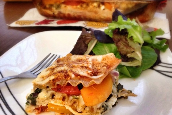Healthy Dinners: Butternut squash lasagne. Perfect fall meal; full of nutrition and taste. Yummy!