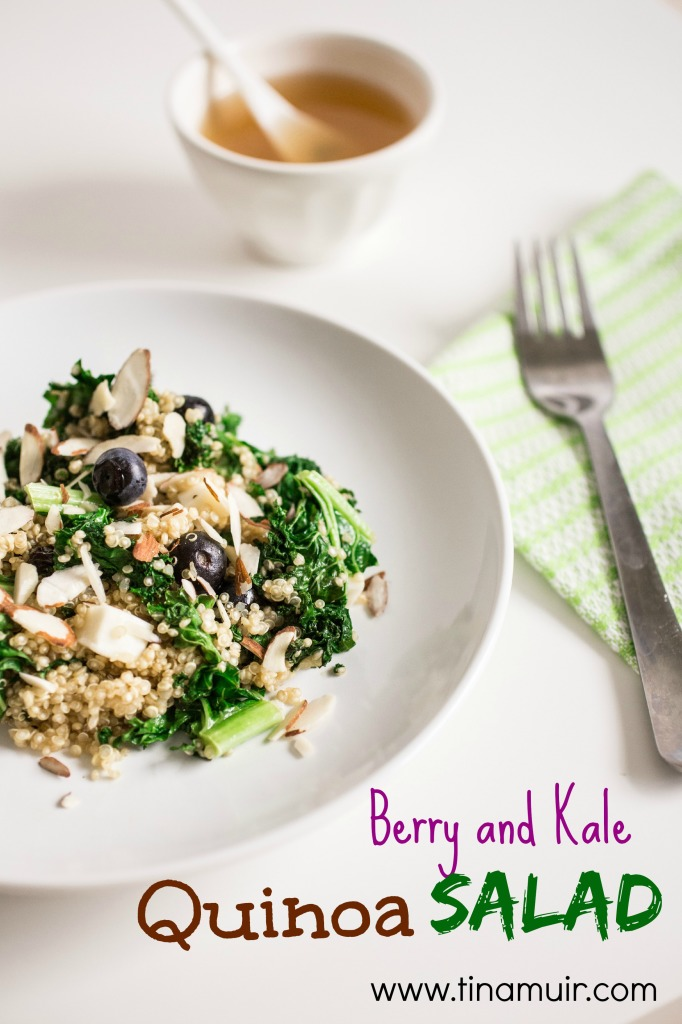 This Berry and Kale Quinoa Salad from elite runner Tina Muir can be enjoyed hot or cold, and is a wonderful way to bring winter and summer together for a nutritious meal year round. This is a great runner meal! Oh yum! @tinamuir88