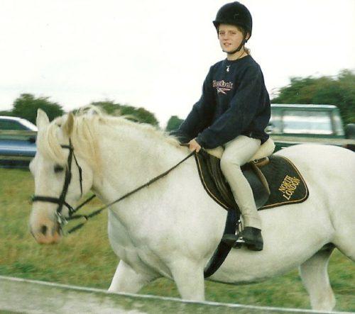 Tina horse riding